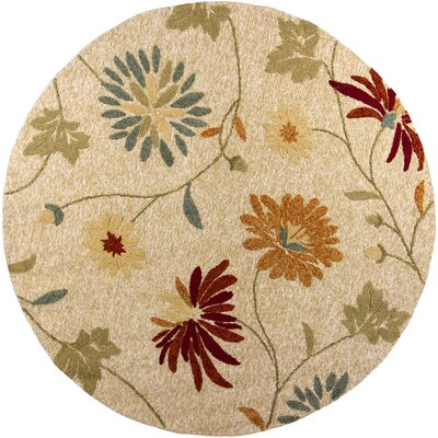 Winsford Beige Sofia Indoor/Outdoor Area Rug Rug Size: Round 76