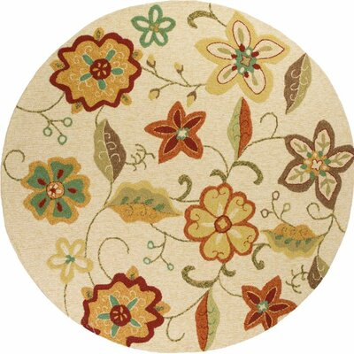 Winsford Ivory Serafina Indoor/Outdoor Area Rug Rug Size: 33 x 53