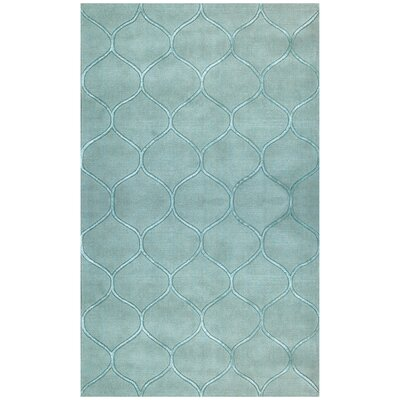 Bog Water Harmony Frost Blue Area Rug Rug Size: Rectangle 8 x 10