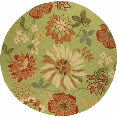 Winsford Pistachio Bella Indoor/Outdoor Area Rug Rug Size: Round 76