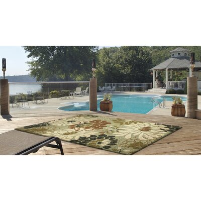 Winsford Seafoam Silhouette Indoor/Outdoor Area Rug Rug Size: Rectangle 76 x 96