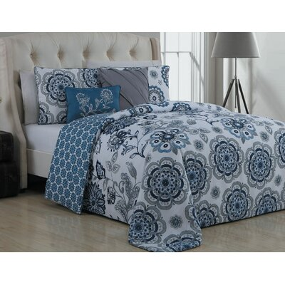Stokes Traditional 5 Piece Reversible Duvet Cover Set Size: King