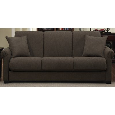 Lawrence Full Convertible Upholstered Sleeper Sofa Upholstery: Brown