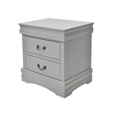 Struthers 2 Drawer Nightstand