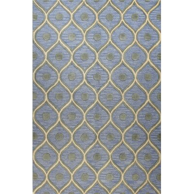Neil Hand-Tufted Light Blue Area Rug Rug Size: Runner 26 x 8