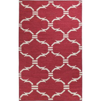 Girardville Red Area Rug Rug Size: 76 x 96