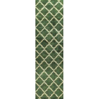 Nicoll Green Area Rug Rug Size: Runner 26 x 8