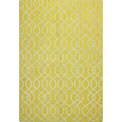 Nigel Hand-Tufted Gold Area Rug Rug Size: 76 x 96
