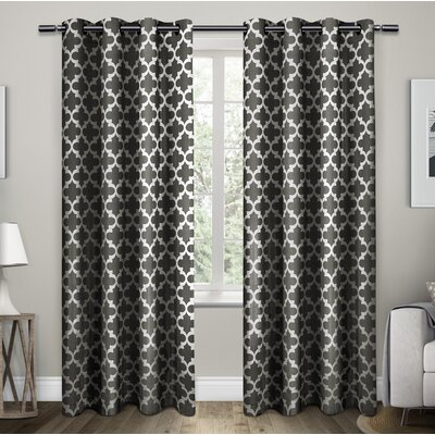 Stanton Geometric Semi-Opaque Grommet Curtain Panels