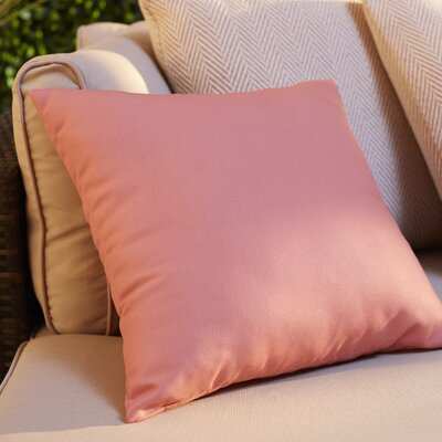 Eastvale Solid D�corative Outdoor Pillow Color: Seed, Size: 16 H x 16 W x 1 D