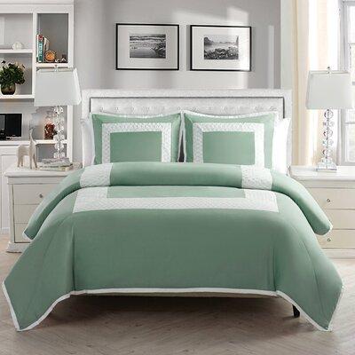 Corte Duvet Set Color: Aqua, Size: King