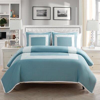 Corte Duvet Set Color: Blue, Size: Twin