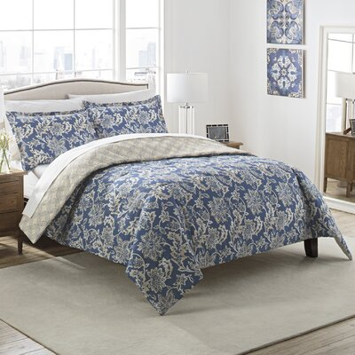 Coggeshall 3 Piece Reversible Comforter Set Size: King