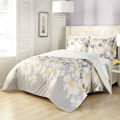 Corby 3 Piece Reversible Comforter Set Size: Queen