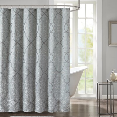 Shower Curtain Color: Silver/Gray