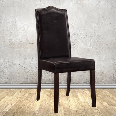 Maelynn Parsons Chair Finish: Espresso, Upholstery Type: Leather - Espresso