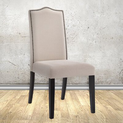 Maelynn Parsons Chair Upholstery Type: Fabric - Linen, Finish: Espresso