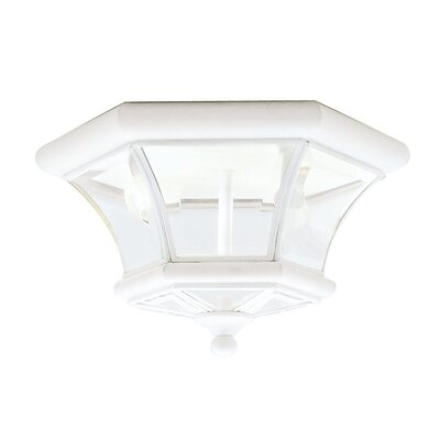 Gustavson 2-Light Flush Mount Size: 7 H x 10.5 W x 10.5 D, Finish: White