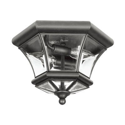 Gustavson 2-Light Flush Mount Size: 7 H x 10.5 W x 10.5 D, Finish: Black