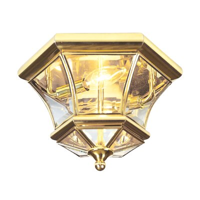 Gustavson 2-Light Flush Mount Size: 7.75 H x 12.5 W x 12.5 D, Finish: Polished Brass