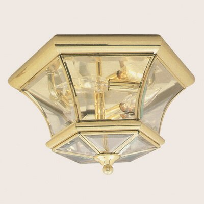 Dufton 2-Light Flush Mount Size: 7.75