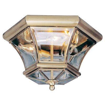 Gustavson 3-Light Flush Mount Finish: Antique Brass