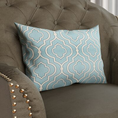 Camden 100% Cotton Lumbar Pillow Color: Aqua