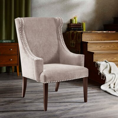 Farley High Back Wingback Chair Upholstrey: Taupe