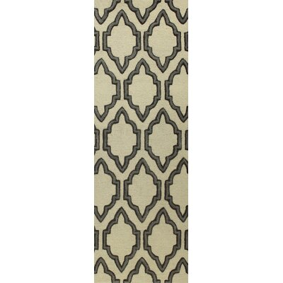 Nelle Hand-Tufted Ivory Area Rug Rug Size: Runner 26 x 8