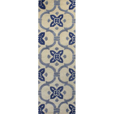 Nesmith Hand-Tufted Ivory Area Rug Rug Size: Runner 26 x 8