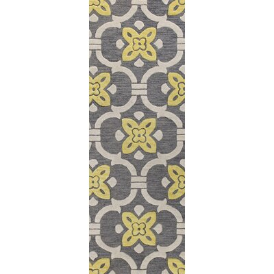 Oakhill Hand-Tufted Grey Area Rug Rug Size: Runner 26 x 8