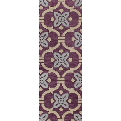 Hewlett Hand-Tufted Lilac Area Rug Rug Size: Runner 26 x 8