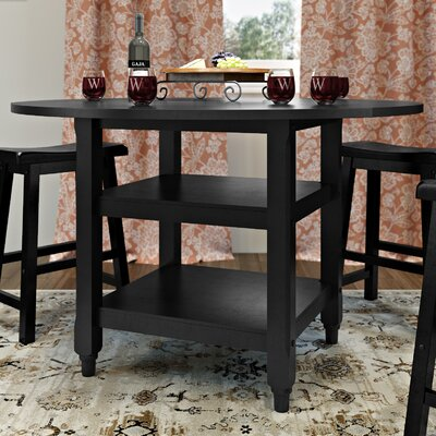 Bristol Point Drop Leaf Dining Table Finish: Black