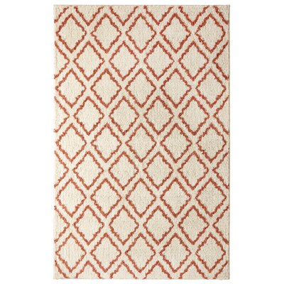 Dumbarton Magic Fret Beige/Coral Area Rug
