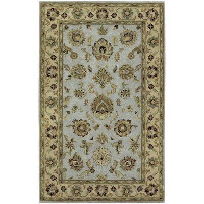 Knudson Hand-Woven Blue/Green Area Rug