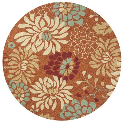 Winsford Saffron Silhouette Outdoor/Indoor Area Rug Rug Size: Rectangle 33 x 53