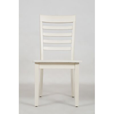Dunster Ladder Back Side Chair (Set of 2) Color: Linen