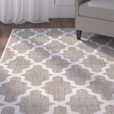 Sidell Taupe Area Rug Rug Size: 76 x 109