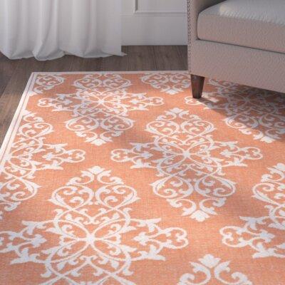 Lantz Orange Indoor/Outdoor Area Rug