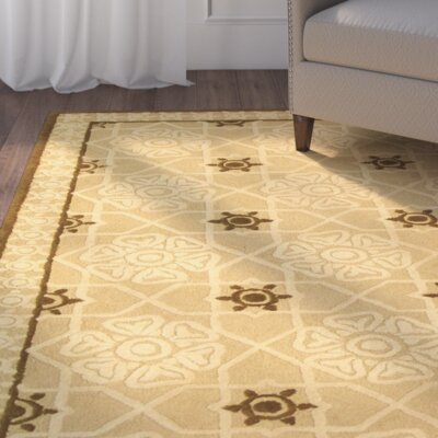 Fullerton Creme Geometric Area Rug Rug Size: Rectangle 39 x 59