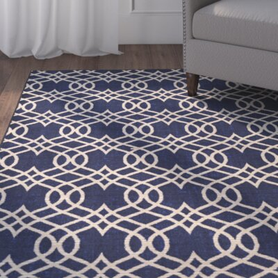 Hardenburgh Blue/Beige Area Rug Rug Size: Rectangle 8 x 10