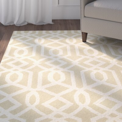 Hulings Hand-Knotted Sand/Ivory Area Rug