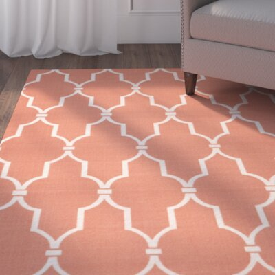 Coyne Orange/White Indoor/Outdoor Area Rug