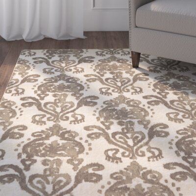Hodgins Beige/Brown Area Rug Rug Size: Rectangle 5 x 8