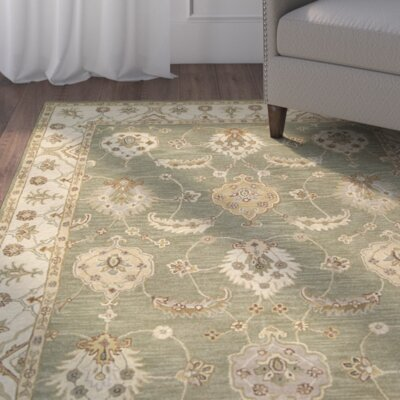 Harmonsburg Hand-Woven Kiwi Area Rug Rug Size: Rectangle 36 x 56