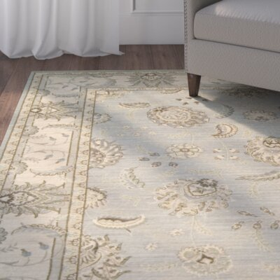 Humphries Aqua/Beige Area Rug