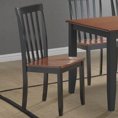 Ann Side Chair Finish: Black / Cherry