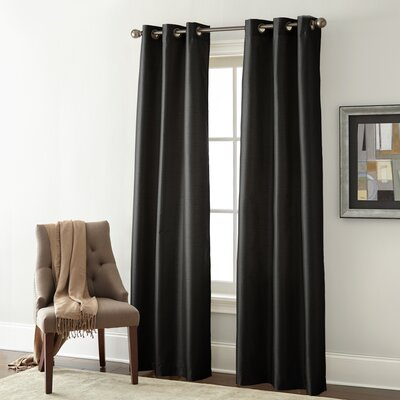 Alcott Hill Edison Solid Blackout Grommet Curtain Panels