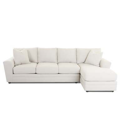 Edwin Sectional Upholstery: Amigo Dove, Orientation: Left Hand Facing