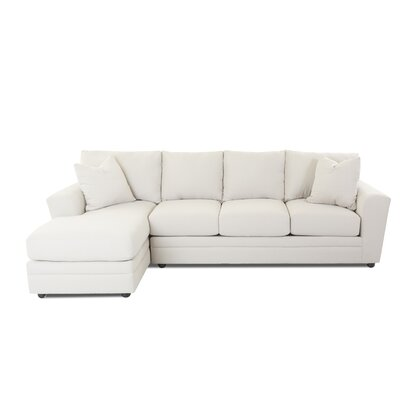 Edwin Reversible Sectional Upholstery: Conversation Ivory, Orientation: Right Hand Facing